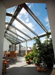 glazen terrasoverkapping