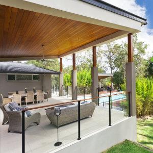 moderne overkapping terras