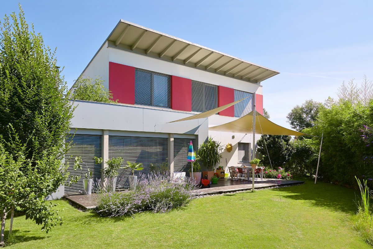 moderne terrasoverkapping met doek