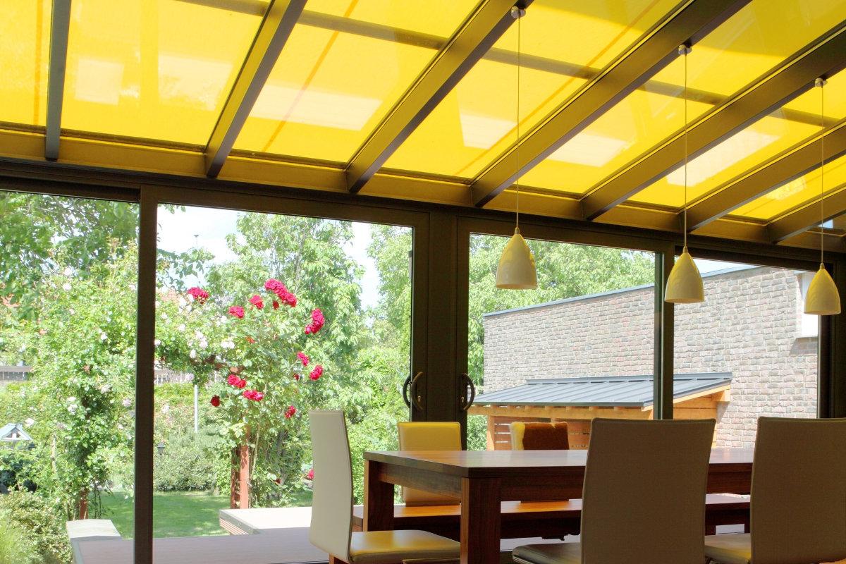 zonwering glazen terrasoverkapping